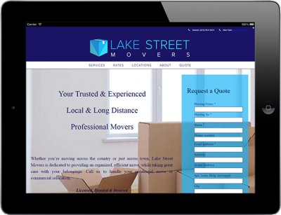 Web Design for Business Lake Street Movers 1