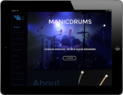 Web Design for Business Manicdrums Productions
